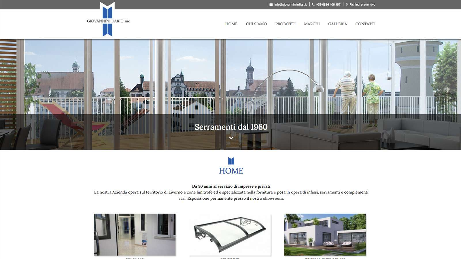 Giovannini infissi studio ellipse grafica e web design for Sito web design piano piano