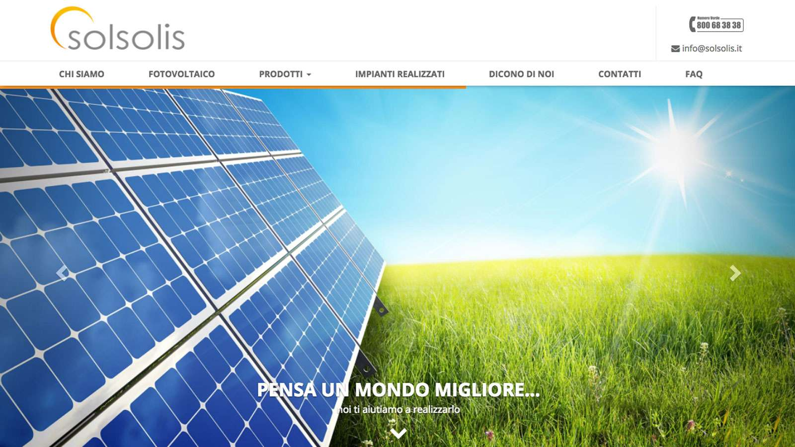 Solsolis Desktop Website