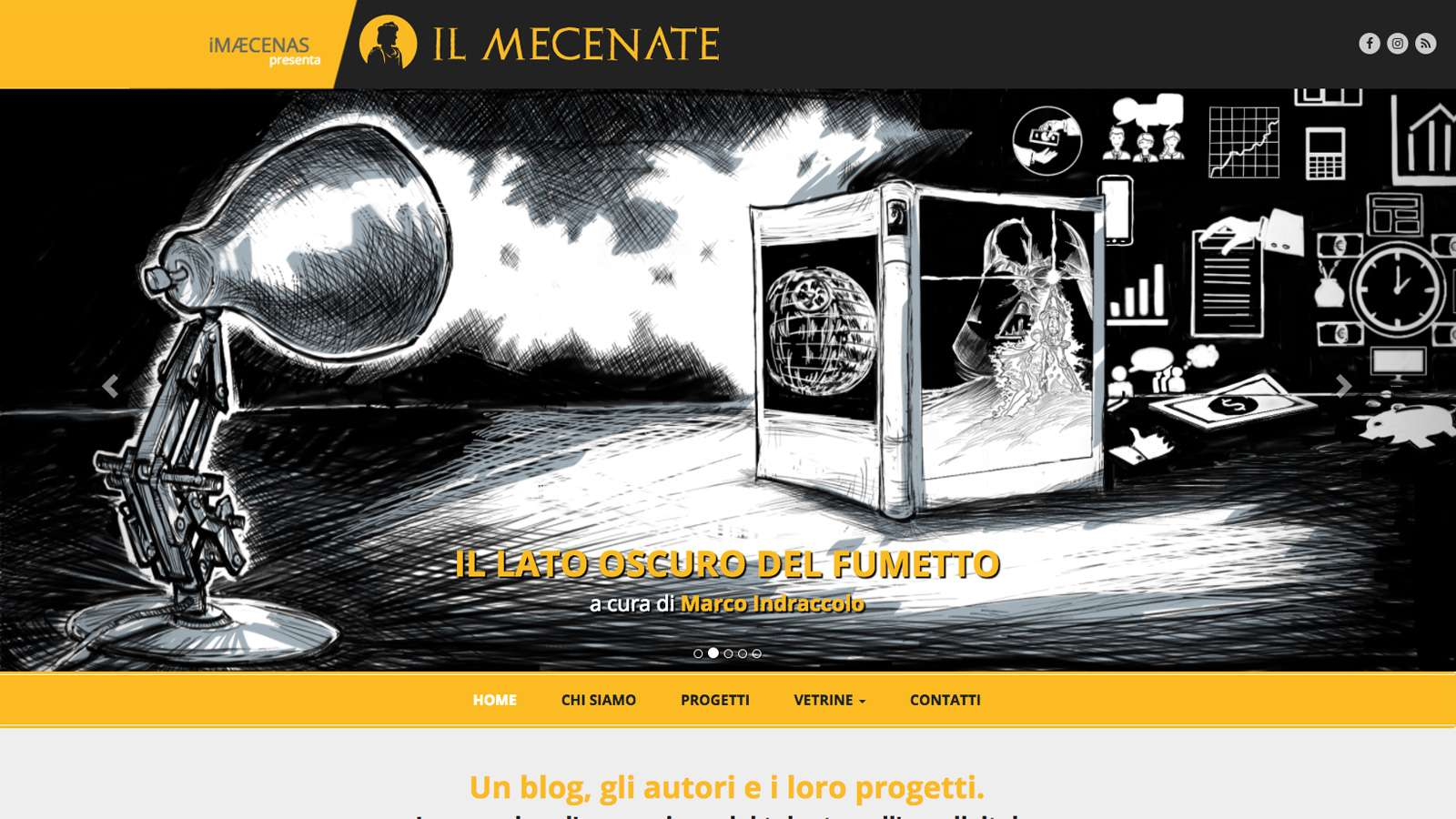 iMæcenas Desktop Website