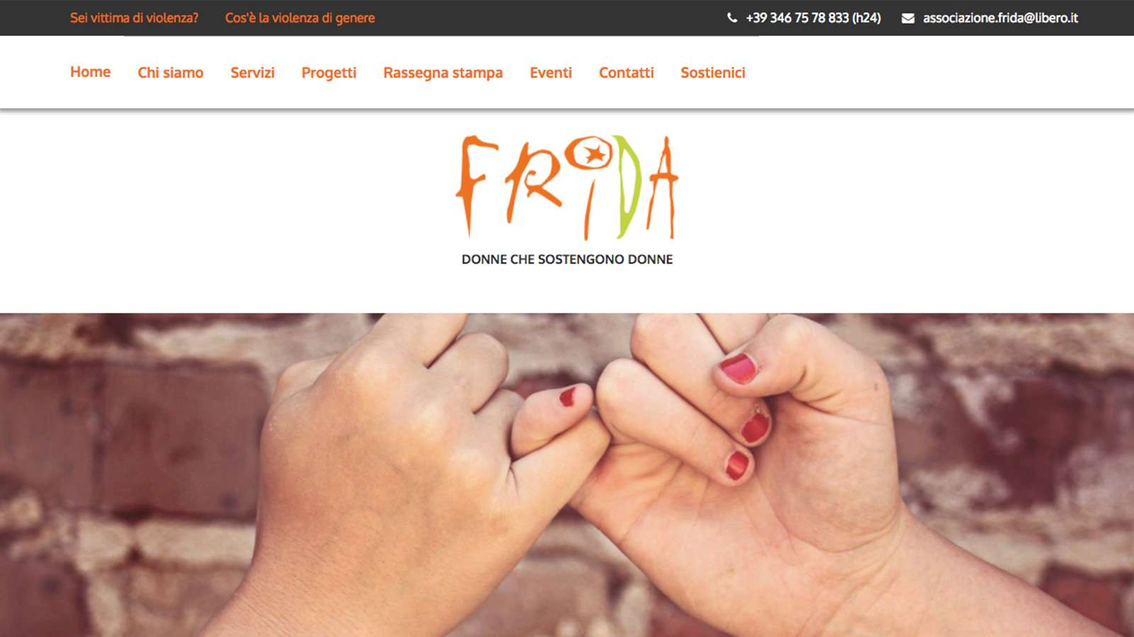 Associazione Frida - Desktop Website
