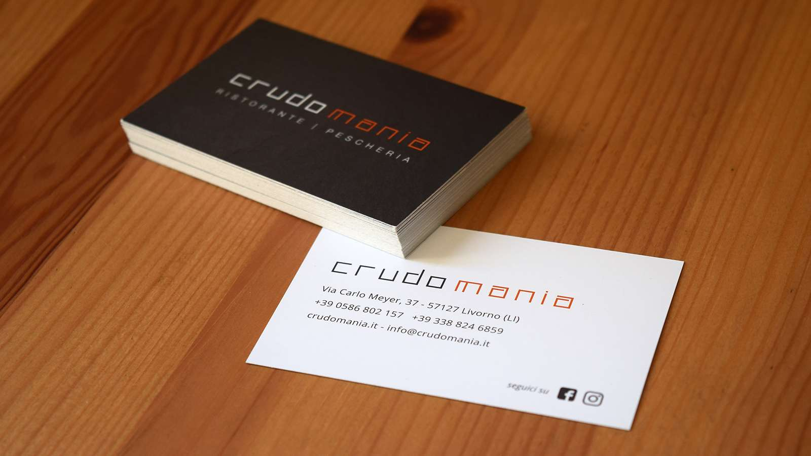 Crudomania - Business Cards