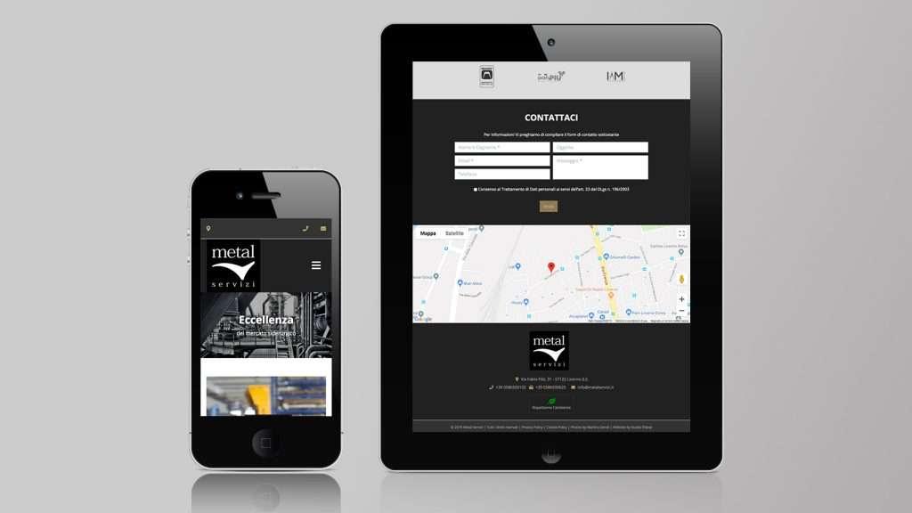 Metal Servizi Mobile Site