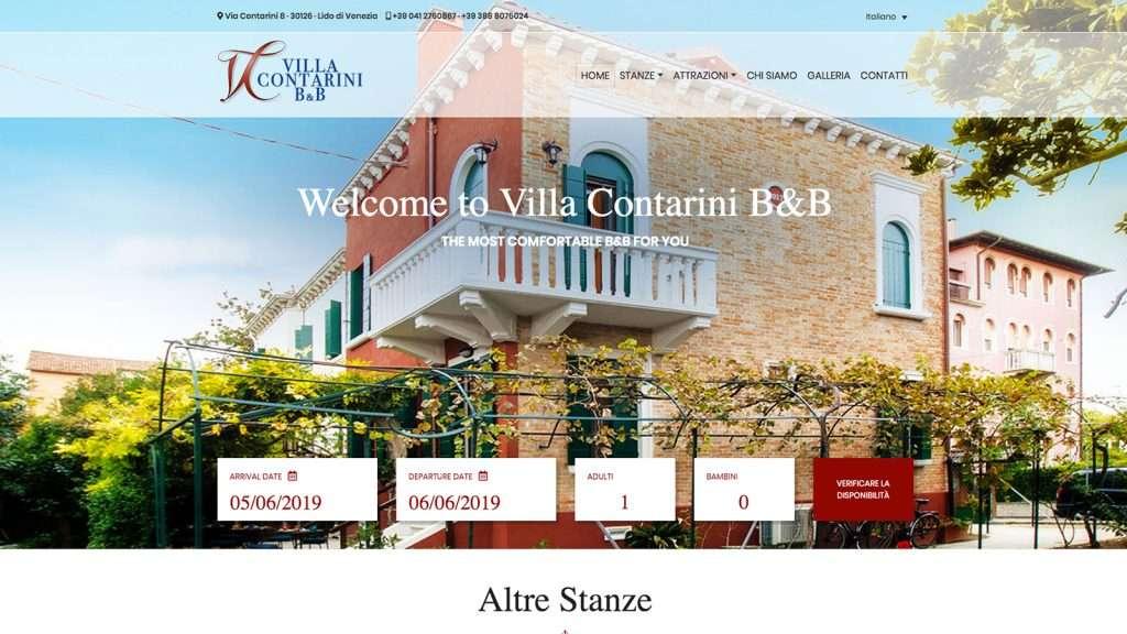 Villa Contarini B&B Desktop Site