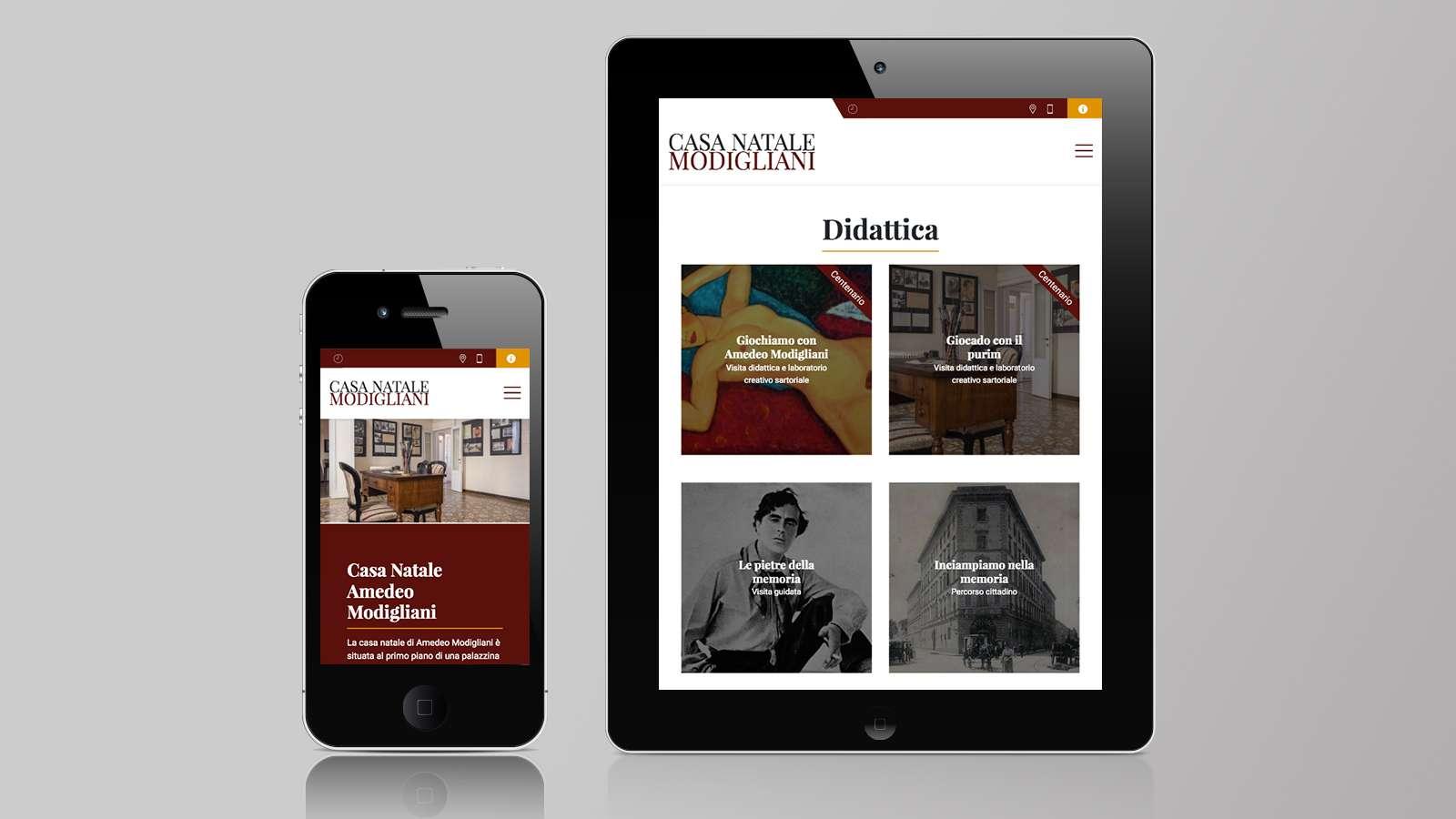 Sito Web Mobile Casa Natale Amedeo Modigliani