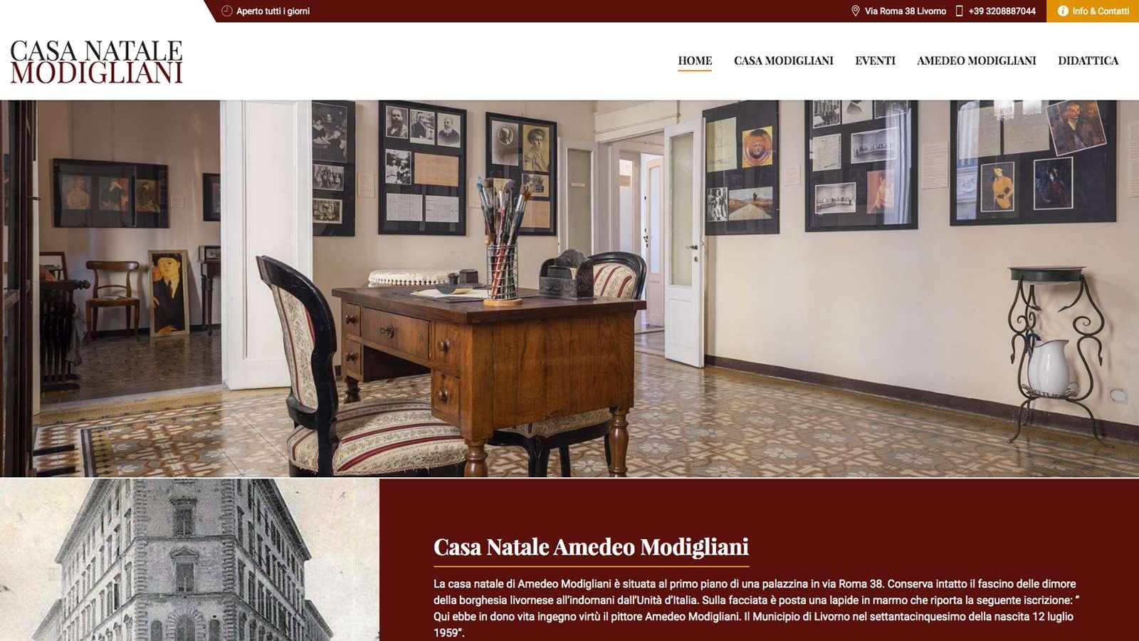 Sito Web Desktop Casa Natale Amedeo Modigliani